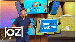 Dr. Oz Shows How to Use Lemons as Deodorant and Dandruff Treatment