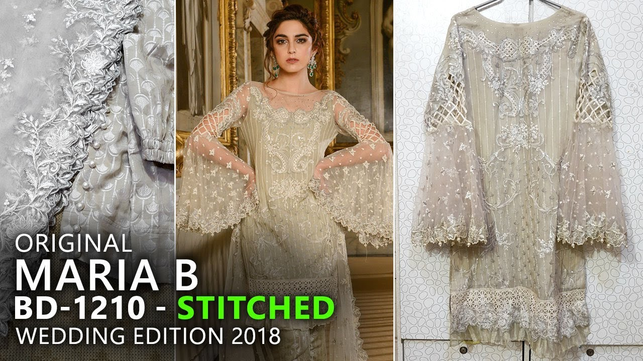 e25db65e4e Maria B Mbroidered Stitched Ivory BD10 Wedding Edition 2018 - Maya Ali Mann  Mayal Hum TV