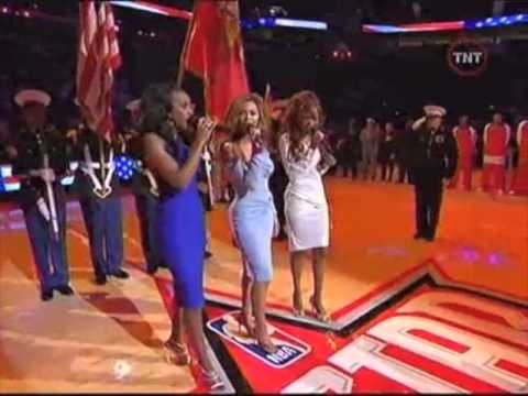 Mariah Carey and Destinys Child DUET!!! The Star Spangled Banner!