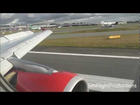 Windy Landing at Hamburg Airport HD