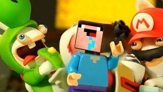 ЛЕГО НУБик Майнкрафт МАРИО и Бешеные Кролики - Мультфильмы LEGO Minecraft Animation - Мультики