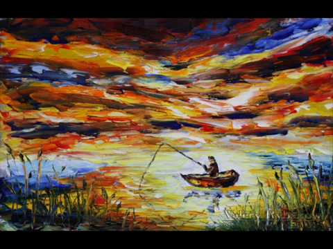 Oil painting clouds and seascape FISHING 146 by Valery Rybakow
