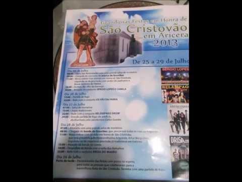 Programa Festa em Aricera 2013