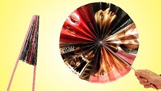 Amazing & Easy Paper Folding Fan Making | Best Out Of Waste | Newspaper Craft Ideas