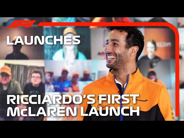 Daniel Ricciardo's First McLaren Car Launch