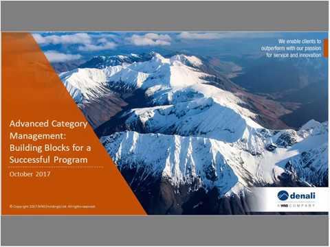 Advanced Category Management: How to Establish Organizational Building Blocks to Success