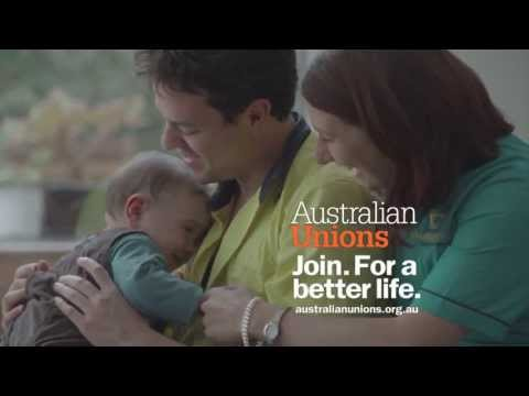 "Australian Unions. Join. For a Better Life : ""Join"""