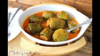Cómo hacer pimientos verdes rellenos de carne en salsa española | MUY FÁCILES Y SABROSOS