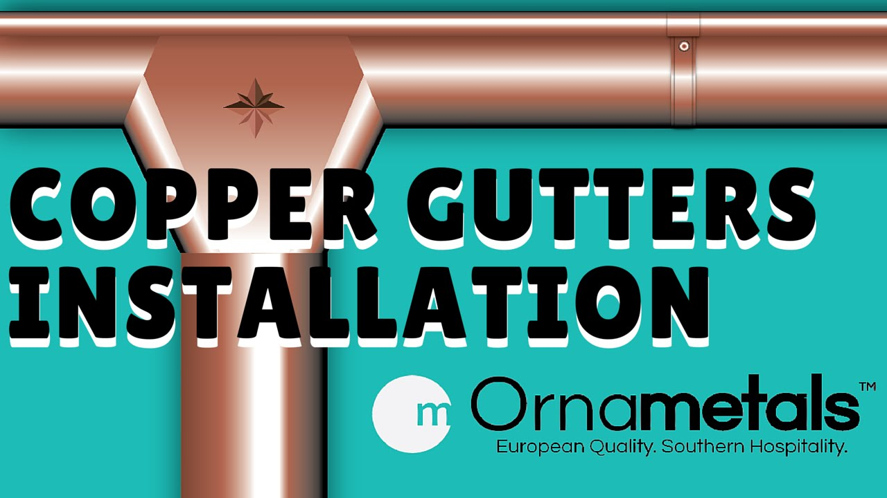 Copper gutters installation step by step process youtube copper gutters installation step by step process solutioingenieria Image collections