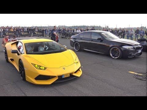 BMW M5 F10 vs Novitec Lamborghini Huracan N-Largo S vs GT-R