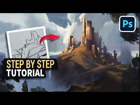 Concept Art Process ( Digital Painting Tutorial )