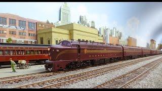 PRR Rare Shark Baldwin BP 20 & Broadway Limited Train.