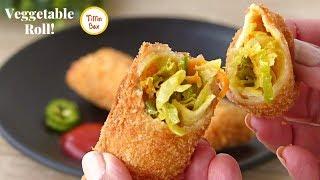 Easy Vegetable Roll Recipe for Kids Tiffin Box, winter veggie stuffed crepe Rolls, ভেজিটেবল রোল