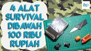 4 ALAT SURVIVAL DIBAWAH 100 RIBU RUPIAH!!!!  |  Unboxing & Review Indonesia