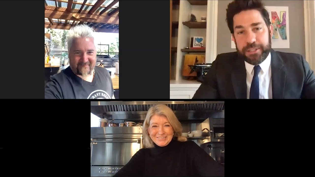 John Krasinski Hosts Guy Fieri, Martha Stewart, David Chang, and Stanley Tucci for an SGN Potluck