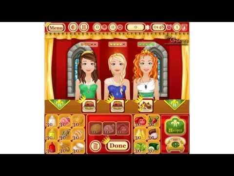 Игры Онлайн:Красивая Дисней Принцесса—Барби Ресторан—Готовим еду—Онлайн Видео Игры Для Девочек