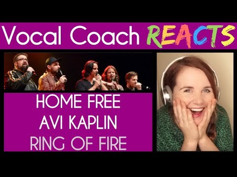 Vocal Coach Reacts to Home Free and Avi Kaplan (Pentatonix) A Cappella - Ring Of Fire (Johnny Cash)