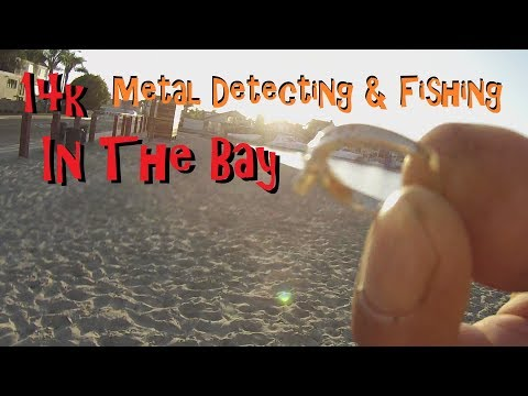 A Gold Day In The Bay Metal Detecting & Fishing HB Harbor