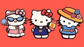 Hello Kitty Dress-Up Magnetic Fashion Kit キャラクター練り切り ハローキティ Sanrio by Disneycollector thumbnail