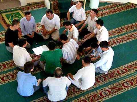 Kazakh Sufi's singing in a circle
