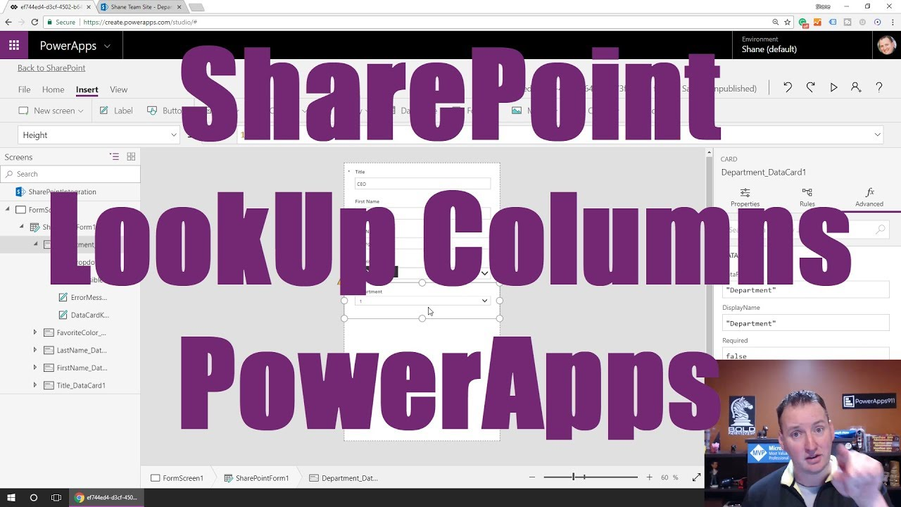 Recreate the SharePoint LookUp Column functionality in Power Apps