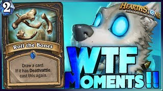 Hearthstone WTF  Frozen Throne  Moments - Funny and lucky Rng Moments