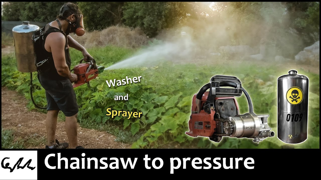 Chainsaw to pressure washer and sprayer