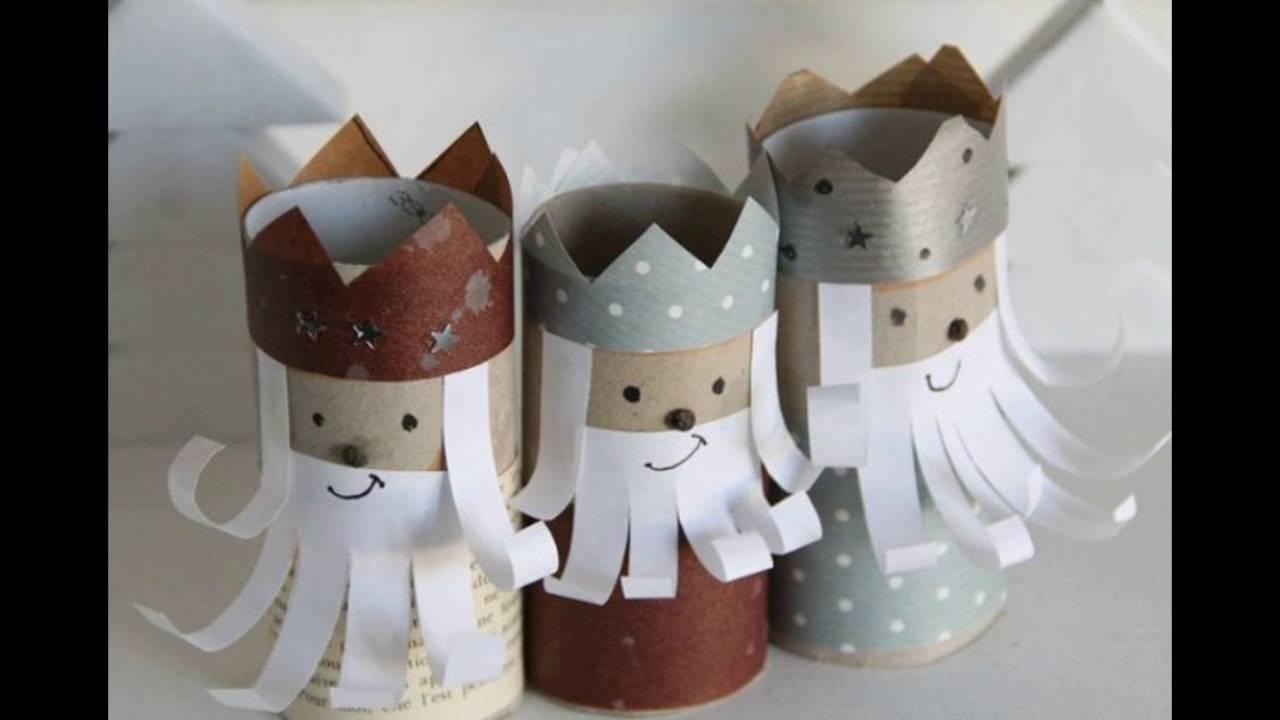 31 manualidades que puedes hacer con rollos de papel for Adornos navidenos que pueden hacer los ninos