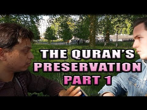 Hyde Park Dawah [ The Quran's Preservation PART 1. Br Mansur and polite Visitor debate