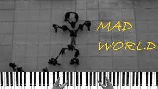 Mad World - Gary Jules Piano Пианино Кавер Cover + Обучение Tutorial