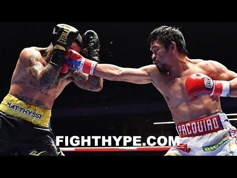 PACQUIAO DESTROYS MATTHYSSE IN 7; FULL FIGHT AFTERMATH  INTERVIEWS AFTER 3 KNOCKDOWNS
