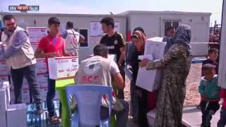 مساعدات إغاثية وتعليمية إماراتية للاجئين بأربيل
