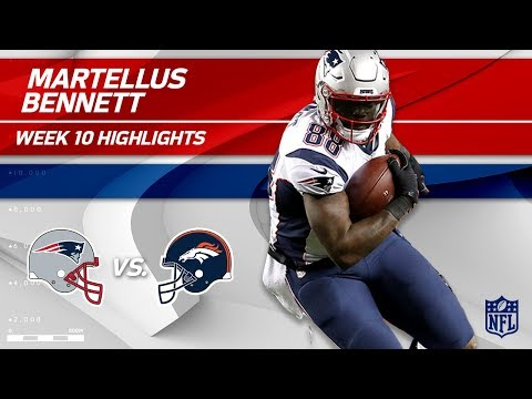 Back in New England: Martellus Bennett Highlights   Patriots vs. Broncos   Wk 10 Player Highlights