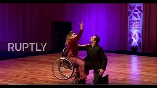 Argentina  Woman in wheelchair breaks social barriers by dancing tango