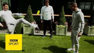 Wimbledon 2016: F2 Freestylers with Roger Federer, Garbine Muguruza and Andy Murray -  BBC Sport