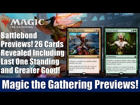 MTG Battlebond Previews: 26 Cards Revealed Including Last One Standing and Greater Good