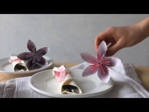 origami bl ten basteln youtube. Black Bedroom Furniture Sets. Home Design Ideas