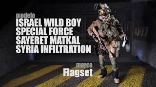 Israeli Sayeret Matkal Leg Panel /& Pouches 1//6 Scale Flagset Action Figures