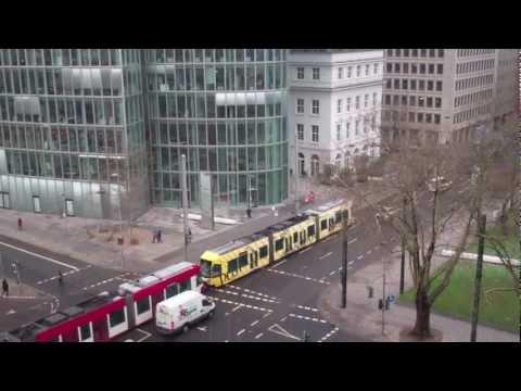 Dusseldorf Trams, Germany - 8th February, 2013