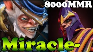 Dota 2 - Miracle- 8000MMR Plays Meepo and Silencer - Ranked Match Gameplay
