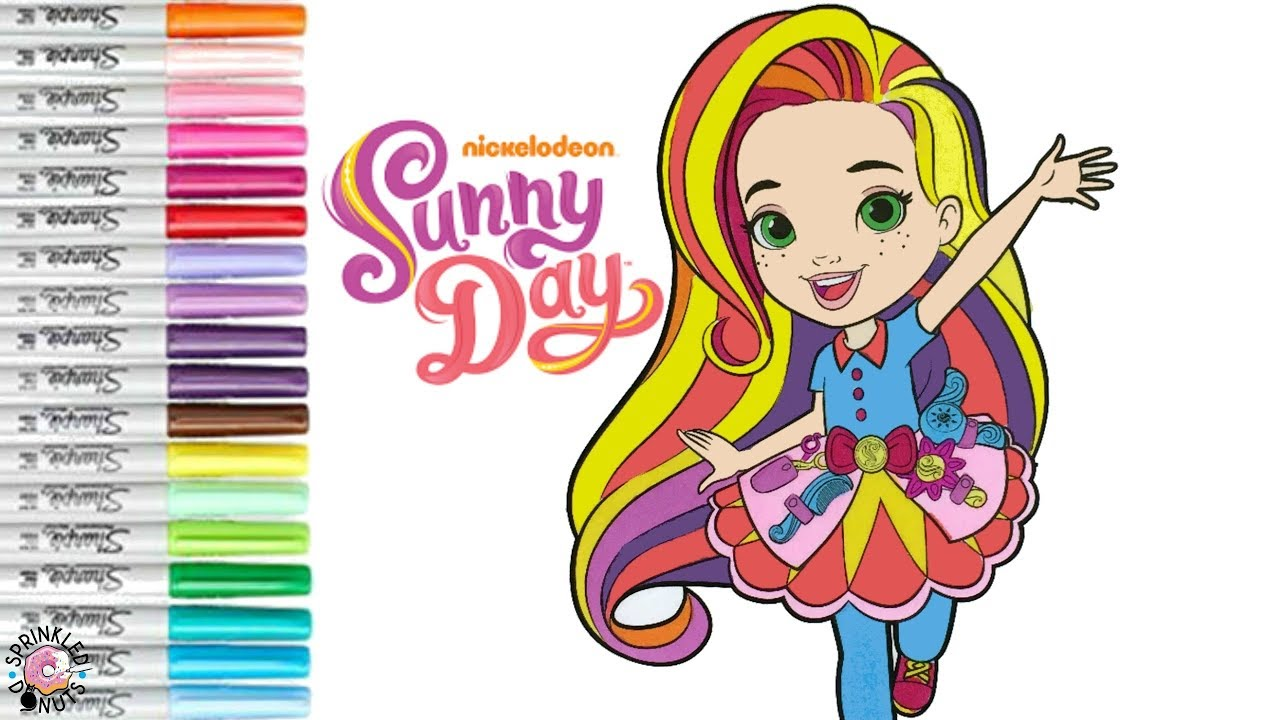 Nickelodeon Sunny Day Coloring Book Page Coloring For Kids