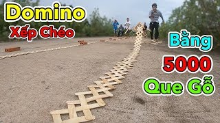 LamTV - Thử Chơi Domino Xếp Chéo Bằng 5000 Que Gỗ | Domino with 5000 wooden sticks