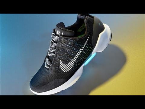 factory price 683b1 708d7 Nike HyperAdapt  Self-Lacing Shoes Are Here - YouTube