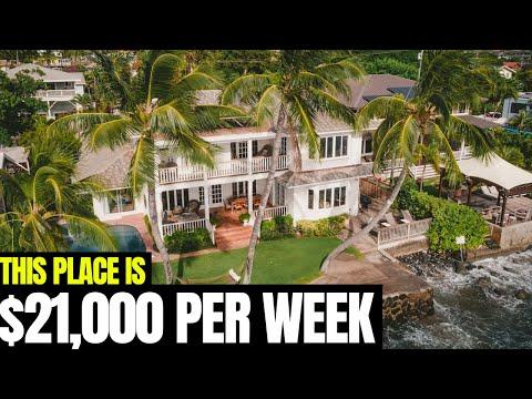 Crazy $3,000 PER NIGHT Beach House In Hawaii