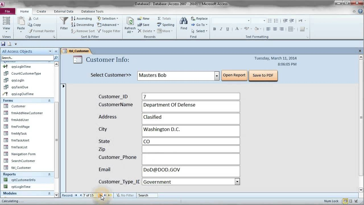 How to Save Report to PDF file: MS Access 2007+