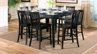 Pines Black-walnut Counter Height Dining Room Collection From Coaster Furniture