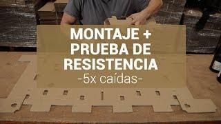 Montaje caja para botellas de vino TotalSafepack + Prueba de Resistencia