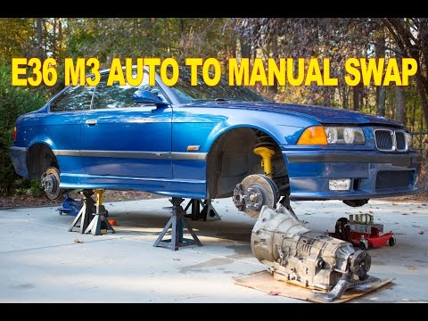 BMW E36 M3 Auto To Manual Swap