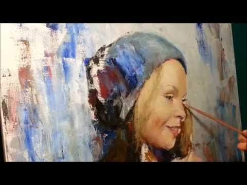 FREE FULL PORTRAIT PAINTING VIDEO BY SERGEY GUSEV,