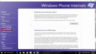 How To use Windows Phone Internals to unlock ALL LUMIAS 2018